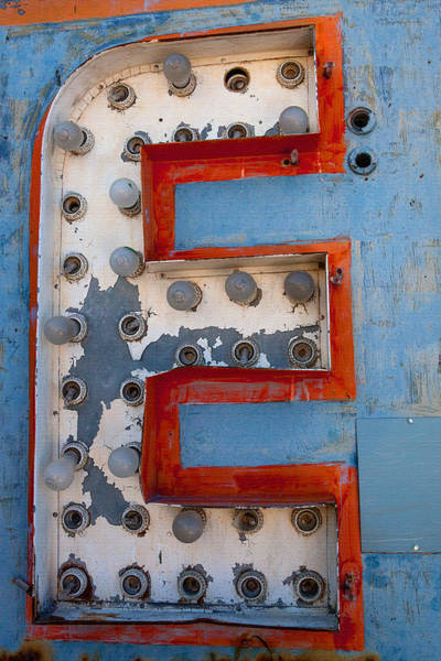 Rustic Photograph - The Letter E by Art Block Collections