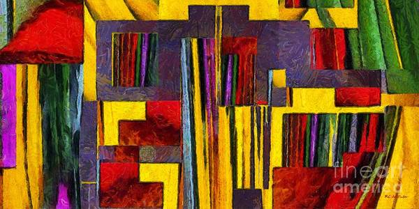Painting - The Library Of The Mind by RC DeWinter