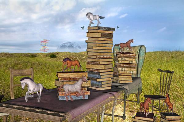 Full Moon Mixed Media - The Library Your Local Treasure by Betsy Knapp