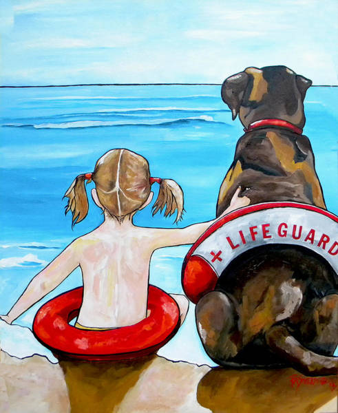 Painting - The Lifeguard by Patti Schermerhorn