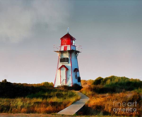 Prince Edward Island Painting - The Light At Covehead Harbour by RC DeWinter