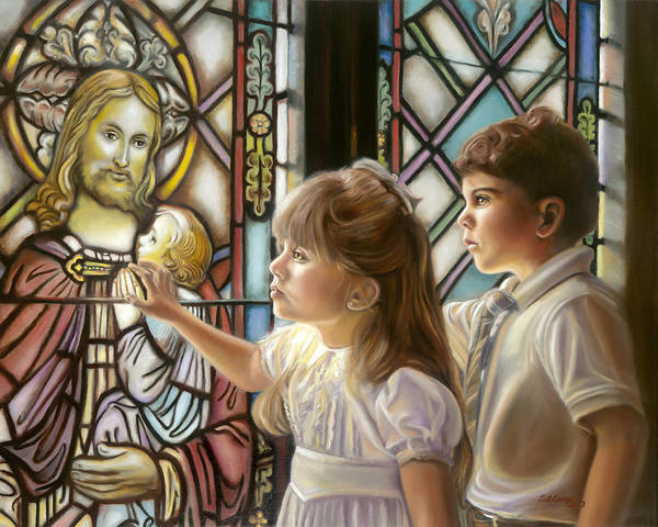 Chapels Painting - The Light Of Faith by Sharon Lange