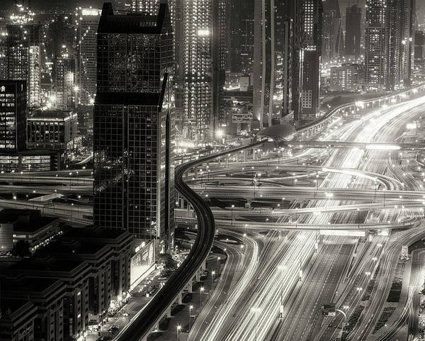 Way Wall Art - Photograph - The Light River Of Dubai by Ahmed Thabet