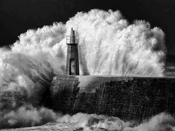 Storm Photograph - The Lighthouse by Alejandro Garcia Bernardo
