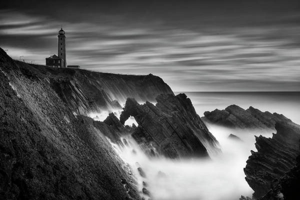 Black Cloud Photograph - The Lighthouse by Filipe Tomaz Silva