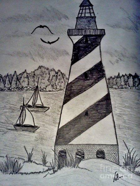 Drawing - The Lighthouse by Neil Stuart Coffey