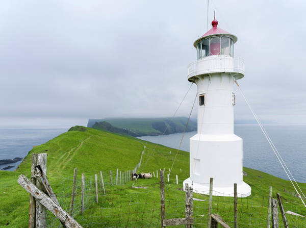 Archipelago Photograph - The Lighthouse On Mykinesholmur by Martin Zwick