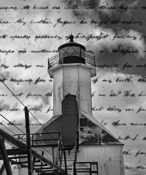 Wall Art - Photograph - The Lighthouse Poem by Dan Sproul