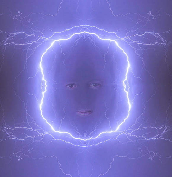 Photograph - The Lightning Man Blue by James BO Insogna