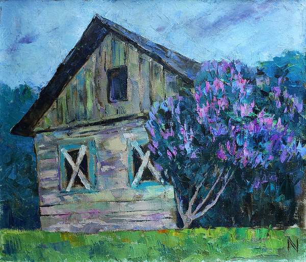 Dilapidation Painting - The Lilac by Vladimir Naryzhny