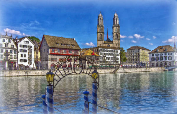 Zuerich Wall Art - Photograph - The Limmat City by Hanny Heim