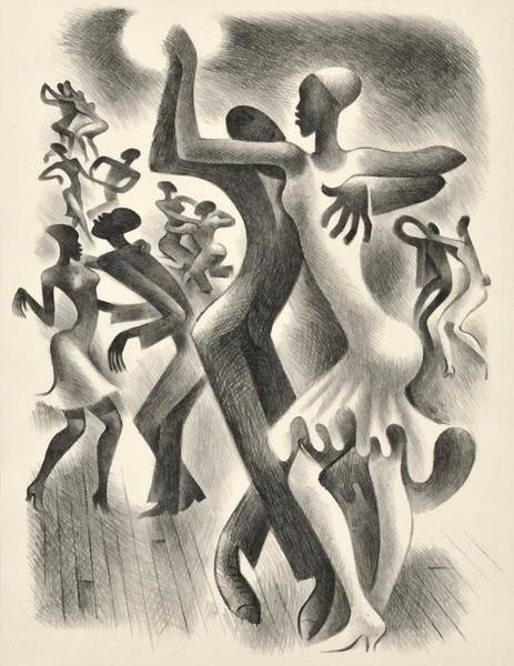 Wall Art - Digital Art - The Lindy Hop by  Miguel Covarrubias