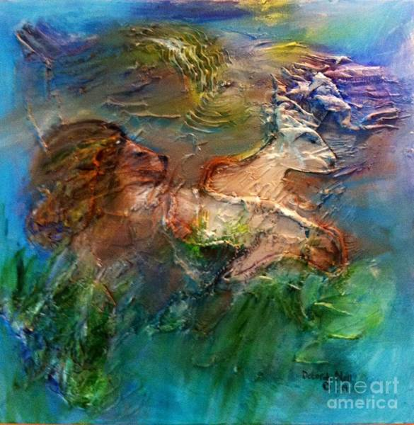 Painting - The Lion And The Lamb by Deborah Nell