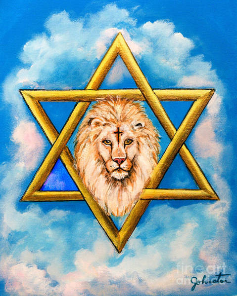 Scriptural Painting - The Lion Of Judah #5 by Bob and Nadine Johnston