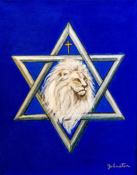 Jewish Music Wall Art - Painting - The Lion Of Judah #6 by Bob and Nadine Johnston