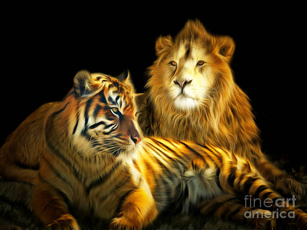 Photograph - The Lions Den 201502113-2brun by Wingsdomain Art and Photography