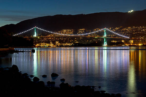 Metro Vancouver Wall Art - Photograph - The Lions Gate Bridge by Michael Russell