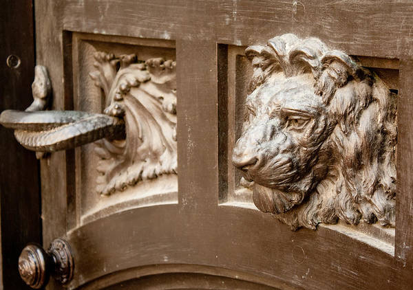 Photograph - The Lion's Head Door by Kristia Adams