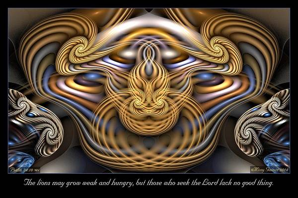 Digital Art - The Lions by Missy Gainer