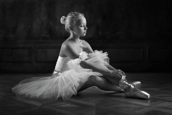 Ballerina Photograph - The Little Ballerina 1 by Victoria Ivanova