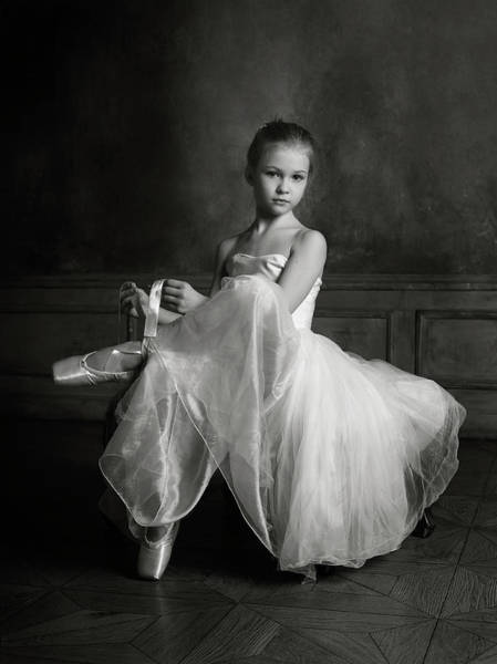 Ballerina Photograph - The Little Ballet Dancer by Victoria Ivanova