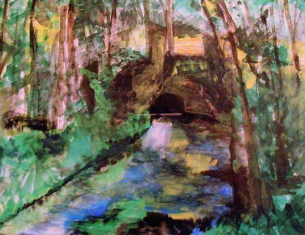 Wall Art - Painting - The Little Bridge Pontoise by Rick Todaro