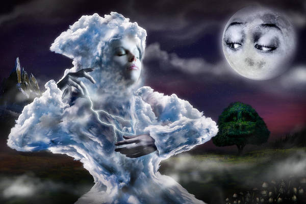 Digital Art - The Little Cloud by Alessandro Della Pietra