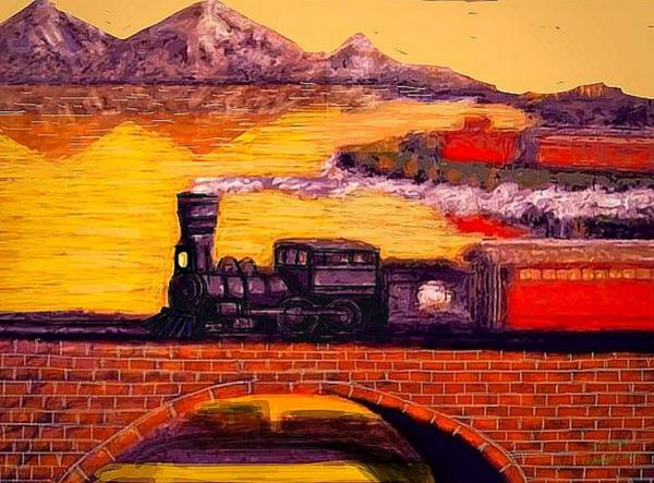 Wall Art - Painting - The Little Engine by Larry Lamb