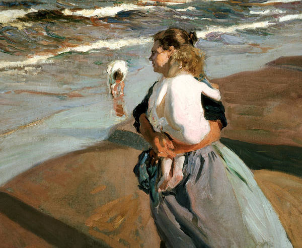 Parent Painting - The Little Granddaughter by Joaquin Sorolla y Bastida
