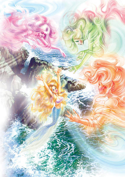 Little Mermaid Wall Art - Photograph - The Little Mermaid And Wind Daughters by MGL Meiklejohn Graphics Licensing