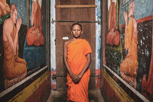 Young Boy Photograph - The Little Monk by Giacomo Bruno