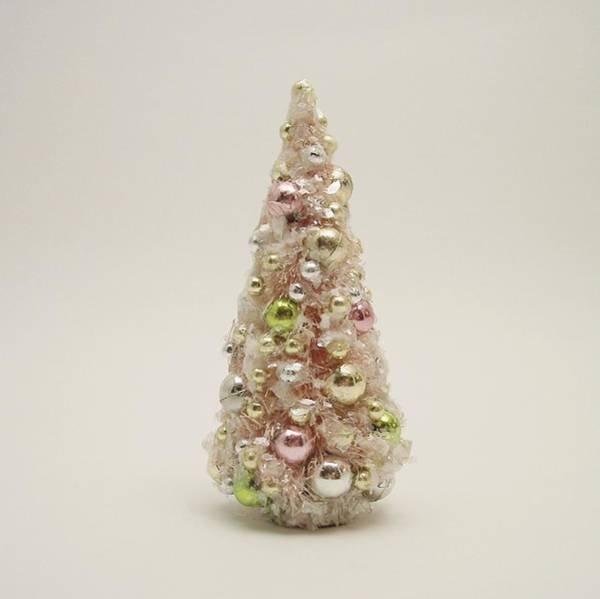 Photograph - The Little Pink Christmas Tree by Mary Wolf