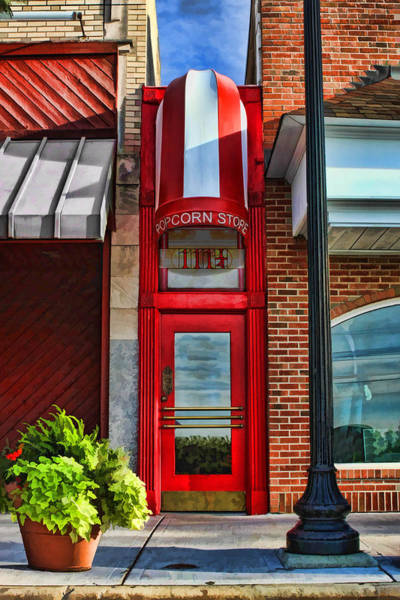 Painting - The Little Popcorn Shop In Wheaton by Christopher Arndt