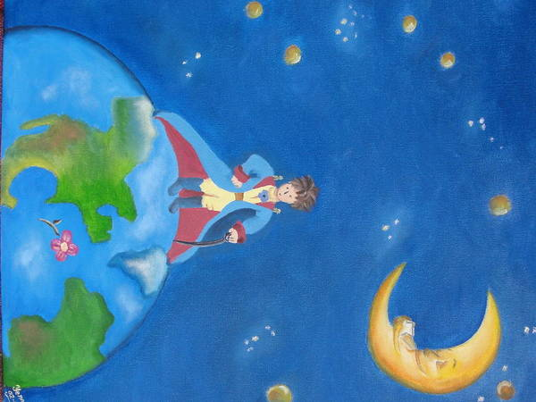 Prince Wall Art - Painting - The Little Prince by Yenni Castillo