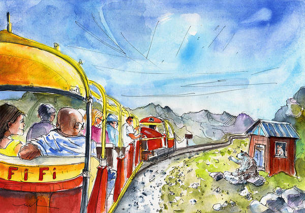 Pyrenees Painting - The Little Train Of Artouste by Miki De Goodaboom