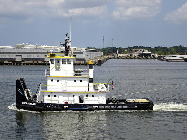 Norfolk Naval Station Wall Art - Photograph - The Little Tugboat That Could by Richard Rosenshein
