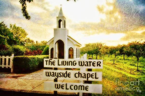 Wayside Photograph - The Living Water Wayside Chapel by Scott Pellegrin