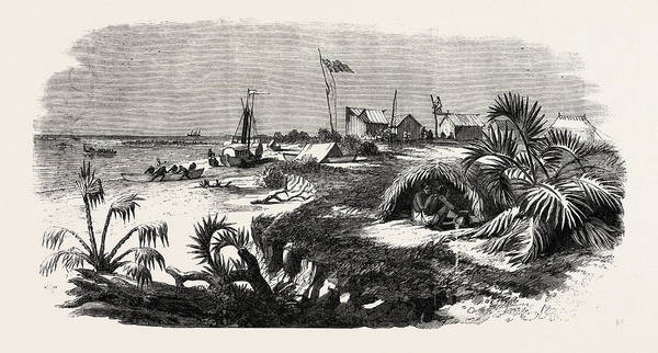 The Livingstone Expedition In Africa Dr Art Print