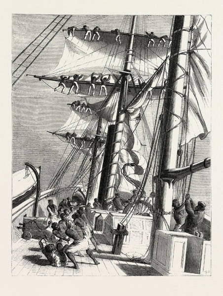 Wall Art - Drawing - The Livingstone Expedition In Africa H.m by English School