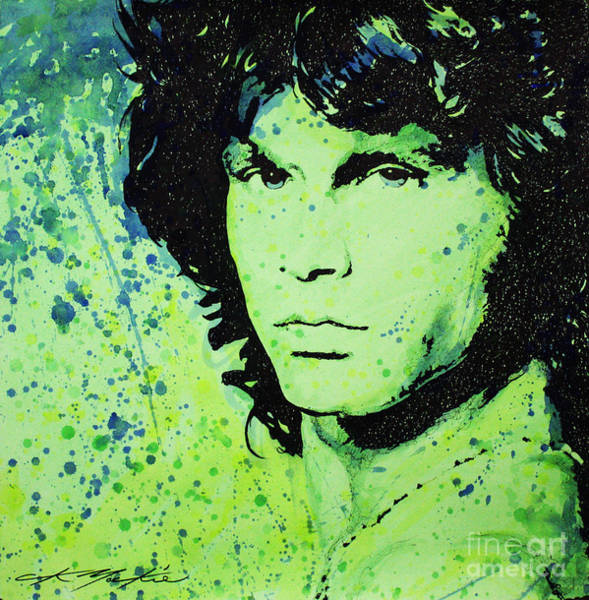 Painting - The Lizard King by CK Mackie