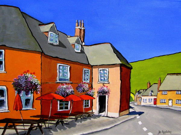 Corfe Painting - The Local by Jo Appleby