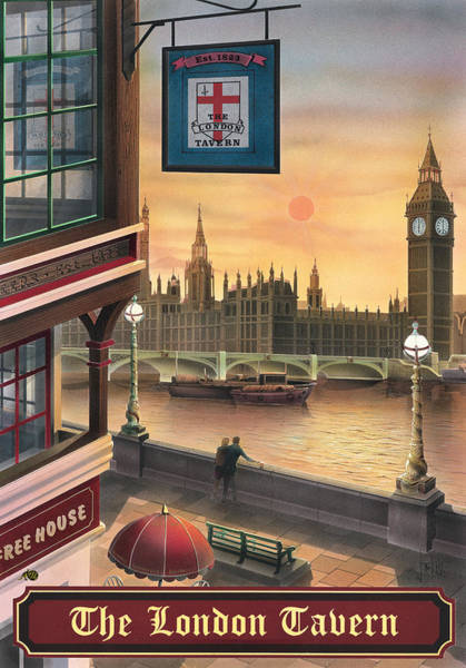 Tavern Painting - The London Tavern by MGL Meiklejohn Graphics Licensing
