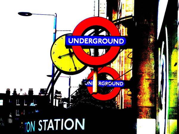 Wall Art - Photograph - The London Underground by Funkpix Photo Hunter