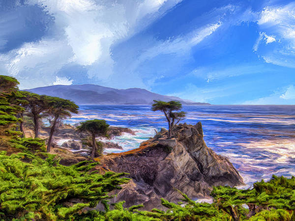 Lone Tree Painting - The Lone Cypress by Dominic Piperata