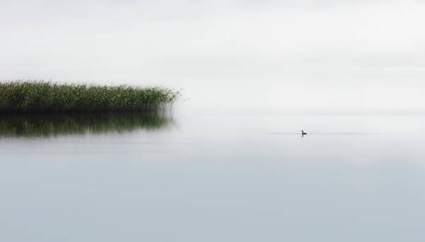 Great Lakes Photograph - The Lone Fisher by Bjorn Emanuelson
