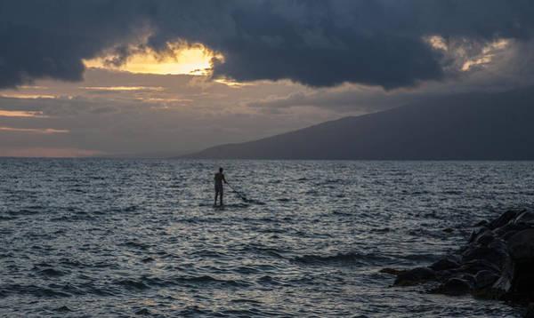 Napili Bay Photograph - The Lone Paddler by Charlie Osborn