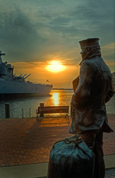 Photograph - The Lone Sailor by Jerry Gammon