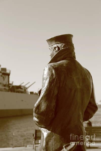 Norfolk Va Wall Art - Photograph - The Lone Sailor Sculptor  by Dwight Cook