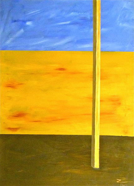 Avi Painting - The Lone Stick by Avi Zamir