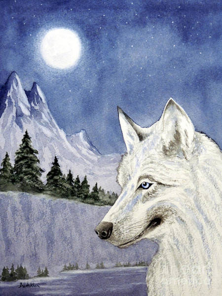 Wall Art - Painting - The Lone Wolf by Bill Holkham